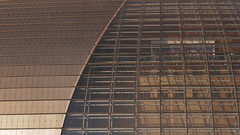 Titanium and Glass (█ Slices of Light █▀ ▀ ▀) Tags: titanium glass architecture design national centre performing arts ncpa 国家大剧院 國家大劇院 guójiā dà jùyuàn giant egg opera house ellipsoid dome architect paul andreu china 中國 中国 beijing 北京 panasonic lumix tz100 zs100 1025fav 500l2