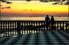 Dopo il tramonto (robertar.) Tags: terrazzamascagni livorno leghorn italia italy colori barche navi people sunset