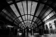 Train Station (George_T._) Tags: d750 nikon 2035 28 fx greece train station bw blackandwhite
