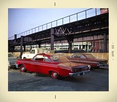 Bridge parking (gpholtz) Tags: diorama miniatures 118 diecast chevrolet belair 1962