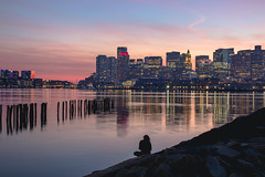 Boston Harbor (austinfloyd) Tags: boston harbor lo presti park new england massachusetts sunset reflection