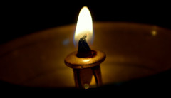 Indian Oil Lamp -  # Flame      #Tranquil (Sriini) Tags: macromondays flame lamp prayer diya deepam india hindu oil wick peace tranquil brass meditate