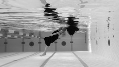 Jai Guru Deva Om (○gus○) Tags: nikond750 7002000mm ƒ28 1100 mp water acqua ragazza girl woman donna pool swimming piscina sottacqua underwater affondando sinking dunking biancoenero blackandwhite blancoynegro bn monochrome bw ʂ