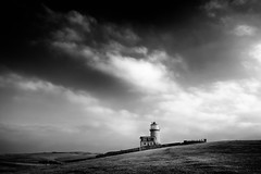 Belle Tout Lighthouse (Graham Hodgetts) Tags: bw belletout blackandwhite cloud countryside eastbourne fujifilm fujinon lighthouse monochrome ramble seaford sevensisters style walk xt1 xf1024f40r bnw cloudscape england unitedkingdom gb the south downs way thesouthdownsway