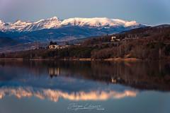 Embalse de los Terradets (www.jorgelazaro.es) Tags: agua paisaje landscape sunset montaña cellers lleida pantano llimiana reflejos atardecer nieve pirineo catalunya españa es