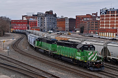 "Northbound Transfer in Kansas City, MO (""Righteous"" Grant G.) Tags: bnsf railway railroad locomotive train trains bn burlington northern emd power transfer freight kansas city missouri"