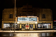 Allenby (A Great Capture) Tags: building theatre marquee sign night street dark toronto allenby agreatcapture agc wwwagreatcapturecom adjm ash2276 ashleylduffus ald mobilejay jamesmitchell on ontario canada canadian photographer northamerica torontoexplore winter l'hiver 2017 2018 ontherun timhortons reflection mirror glass snow darkness nocturnal illuminate lighting history rebel t5i cityscape urbanscape eos digital dslr lens canon