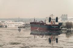 Safe Harbour (langdon10) Tags: canada canon70d espadadesgagnes montreal quebec ship shoreline stlawrenceriver tanker boat calm cold outdoors pilotboat sistership water winter