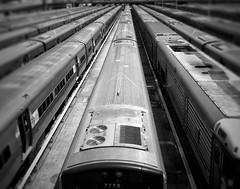 Trains (ginoNYC) Tags: mta newyorkcity nyc newyork manhattan hudsonyards subway masstransit blackandwhite bnw