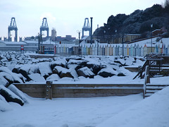Snowbeach (The original SimonB) Tags: suffolk snow thebeastfromtheeast february 2018 olympus e420 felixstowe beach
