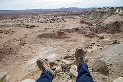 I climbed a canyon to see the world. (Ryan Hallock) Tags: world above high docmartens rei outside outdoors beauty theweatherchannel sunny gorgeous llens canon24105 sonya7s desert america usa southwest salina sanrafael utah