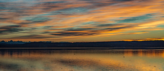 Sunset between golden to blue hour