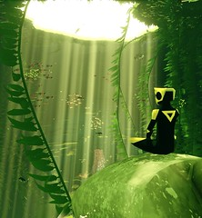 """""""Rest"""" (L1netty) Tags: abzu 505games giantsquid pc games gaming reshade screenshot 4k videogame color green character light underwater water fish"""