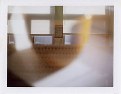 untitled (kaumpphoto) Tags: doubleexposure polaroid instant landcamera 250 blur windoew strie parallel lines orange beige frame abstract