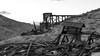 Remains of the mill - Inyo MIne (joeqc) Tags: deathvalleynationalpark dvnp deathvalley desert ef24105f4l 6d inyo mine mining mill canon ca california black bw blancoynegro blackandwhite white monochrome mono mojave mountains funeral ore bin