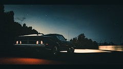 The Boss (polyneutron) Tags: mustang boss retro night ford car