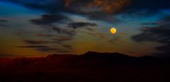 Pre Full Moon (Woodypug) Tags: 97 waxing rte66 kingman arizona twilight moon mountains mohave county moonrise