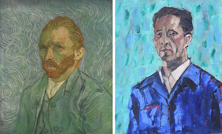 Self Portrait ii by Van Gogh 1889 and Anthony D. Padgett 2017