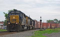 Reservoir (GLC 392) Tags: csx csxt reservoir deshler oh cpl color position light signal emd sd402 auto rack train railroad railway 8068 8858 8805