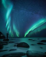 Watching Uttakliev (Jay Daley) Tags: nightphotography sonya7r2 sony arctic norway northernlights auroraborealis aurora