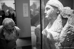 Interesting... beard L1004602 (LaurentBourdier) Tags: londres2014leica people personnes blackandwhite street britishmuseum beard sculpture leica sphynx