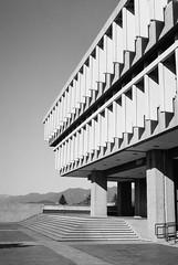 Perfect Lines (mmaslyuk) Tags: bw blackandwhite summer mountains lines architecture university vancouver 400 tmax analog film kodak canonet17 canonet canon