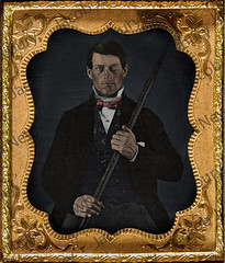 Phineas Gage 1850s - Daguerrotype (Newbury Photograph Restoration) Tags: 1850s phineas gage american railroad impaled survivor