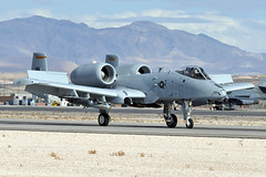 80-0204 (Rich Snyder--Jetarazzi Photography) Tags: usairforce usaf airforce aircombatcommand acc fairchild a10 a10c thunderboltii 800204 66thwps 57thwg wa usafws landing rollout nellisafb lsv klsv lasvegas nevada nv airplane aircraft jet plane bomber groundattack cas closeairsupport warthog hawg brrrrt redflag181