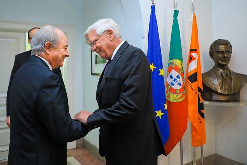 Rui Rio em audiência com o Embaixador da República Federal da Alemanha