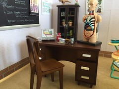 9. Teacher's Desk (Foxy Belle) Tags: doll diorama science classroom 16 scale playscale barbie school class room scene miniature dollhouse house biology life teacher