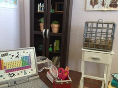 8. Laptop (Foxy Belle) Tags: doll diorama science classroom 16 scale playscale barbie school class room scene miniature dollhouse house biology life teacher