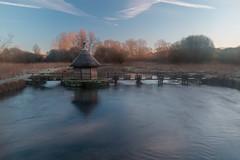 First light (Wizmatt) Tags: river test ell traps fish fisherman hut thatched sunrise water canon 70d hampshire frost mist
