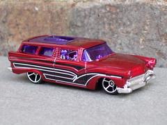 Hot Wheels 8 Crate Custom 1956 Ford Ranch Wagon Metallic Red (beetle2001cybergreen) Tags: hot wheels 8 crate custom 1956 ford ranch wagon metallic red