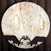 two stags moon (kexi) Tags: 2 two pair couple stags fighting decoration wood plywood poland polska pomerania square december 2016 black silhouettes simple instantfave chalupy chalupy3