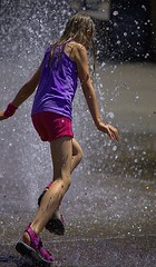 A Different Perspective (Scott 97006) Tags: kid girl play water wet fun cute distortion