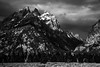 Morning Light on the Grand Tetons (chrislon28) Tags: grandtetons tetons morning sunrise trees sky mountains blackandwhite nikon d750 grandtetonnationalpark nationalpark