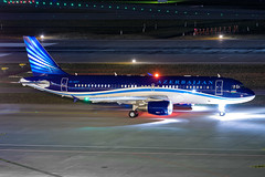 4K-AI07 AZAL Azerbaijan Airlines Airbus A320-214(CJ) Prestige (buchroeder.paul) Tags: 4kai07 azal azerbaijan airlines airbus a320214cj prestige zrh lszh zurich airport switzerland europe ground night