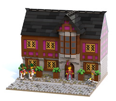 Chocolate Shop, Jameston (Ayrlego) Tags: lego legodigitaldesigner brethrenofthebrickseas bobs corrington jameston
