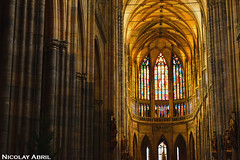 Prague's St. Vitus Cathedral (Nicolay Abril) Tags: praga praha prag prague prága česko českárepublika républiquetchèque tchéquie repúblicacheca chequia czechrepublic czechia csehország csehköztársaság tschechien tschechischerepublik stvituscathedral saintvituscathedral cathedral catedral