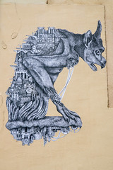 Ardif (dprezat) Tags: ardif paris gargouille streetart street art graf tag pochoir peinture aérosol bombe spray nikond800 nikon d800
