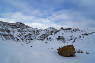 Winter in the Alberta Badlands