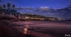Wintertime Blues... Laguna Beach (Don's Photostream) Tags: california ocean bluehour palmtrees lagunabeach pacific clouds