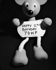 """""""Happy Second Birthday 7DWF"""" (seanwalsh4) Tags: 7dwf happybirthday7dwf crazytuesdaytheme ctt twoyearsold seanwalsh mouse toy bw partydown openthebubbles lovephotography fabulousgrouponflickr friendly interestingtopics canon powershotsx720hs balloons love birthday greetings"""