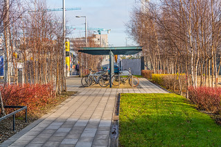 LUAS TRAM STOP AT SPENCER DOCK [11 JANUARY 2018]-135347