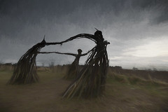 With the wind (modulationmike) Tags: wicker painterly impresionistic structure nikon figures topas effects