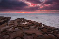 Tide pools at Sunset (PhotoJacko - Jackie Novak) Tags: sandiego lajolla tidepools sunset cuvierpark ocean seascape sky leefilternd6softgnd california