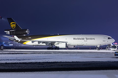 UPS - United Parcel Service / McDonnell Douglas MD-11F / N285UP / Warsaw Chopin Airport / 16.01.18 (Marcin Sikorzak) Tags: ups united parcel service mcdonnell douglas md11f n285up warsaw chopin airport 160118