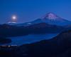 Super moon at predawn (shinichiro*@OSAKA) Tags: 足柄下郡 神奈川県 日本 jp 20180102ds51331 2018 crazyshin nikond4s afsnikkor2470mmf28ged january winter fuji lakeashinoko supermoon moon beforesunrise 39046182644 candidate