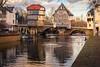 Brückenhäuser Bad Kreuznach (fadenfloh) Tags: brücke haus häuser brückenhäuser bad kreuznach fluss river nahe wasser water ente duck sky cluds wolken himmel sonne color farbe ngc