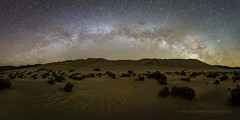 Sand Dune Milky Way Panorama (Jeffrey Sullivan) Tags: milky way arch panorama night photography death valley national park deathvalley nationalpark sand dunes astrophotography astronomy canon eos 6d photo copyright 2017 jeff sullivan april starry sky stars nature landscape travel eureka